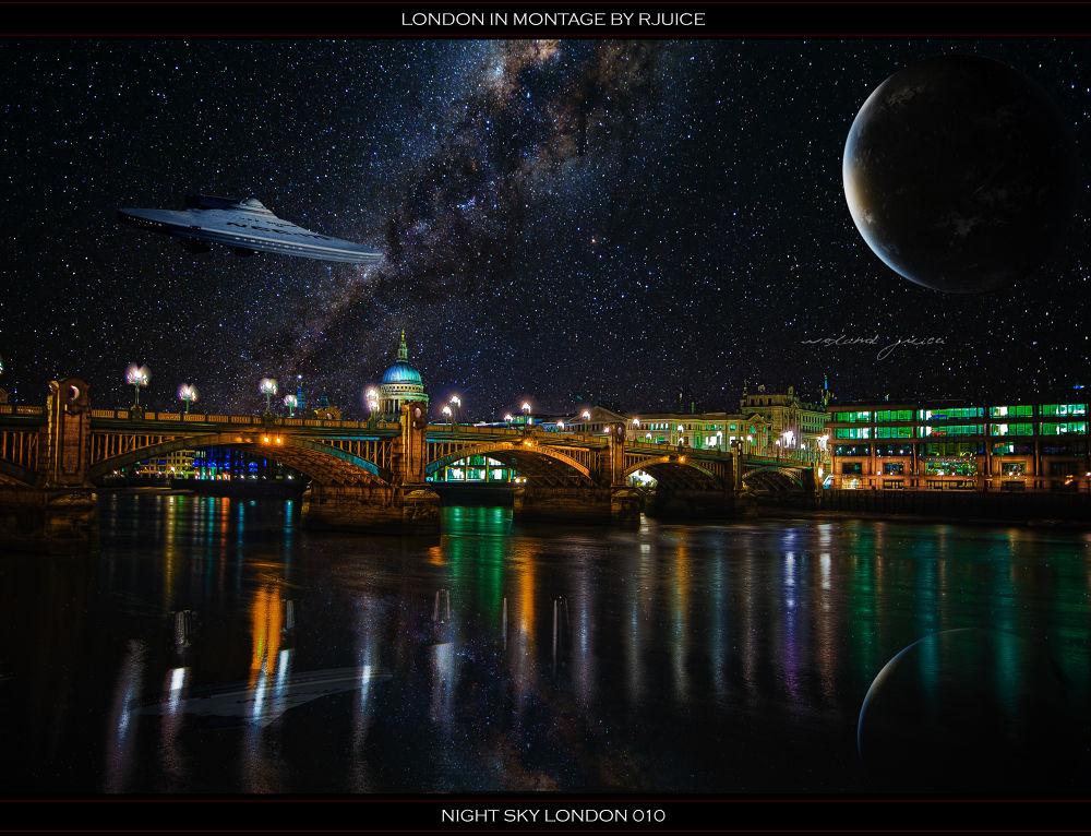 Photo in HDRI #night #sky #london #planet #enterprise #city #hdr #bridge
