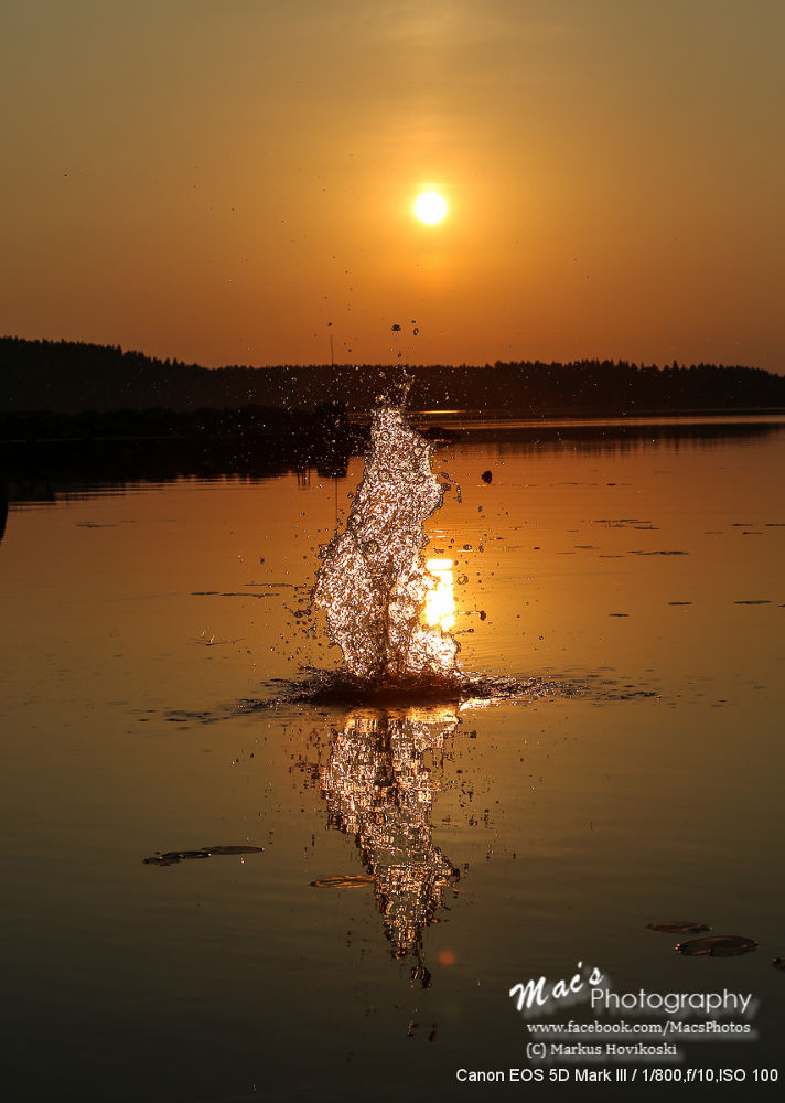 Photo in Nature #ypa2013 #nature #finland #sunset #artistic #water #splash #canon #eos5d #mark iii #macsphotography #canon eos 5d mark iii #hovikoski