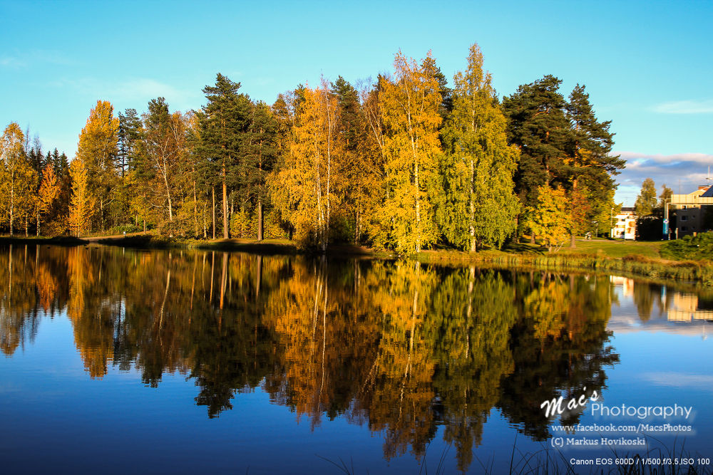 Photo in Landscape #autumn #fall #scenery #landscape #colors #water #reflection #lake #trees #finland #canon #eos 600d #macsphotography #ypa2013