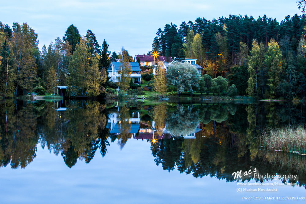 Photo in Landscape #autumn #scenery #nature #lake #water #reflection #trees #buildings #landscape #finland #canon #eos 5d #mark iii #canon eos 5d mark iii #macsphotography #ypa2013