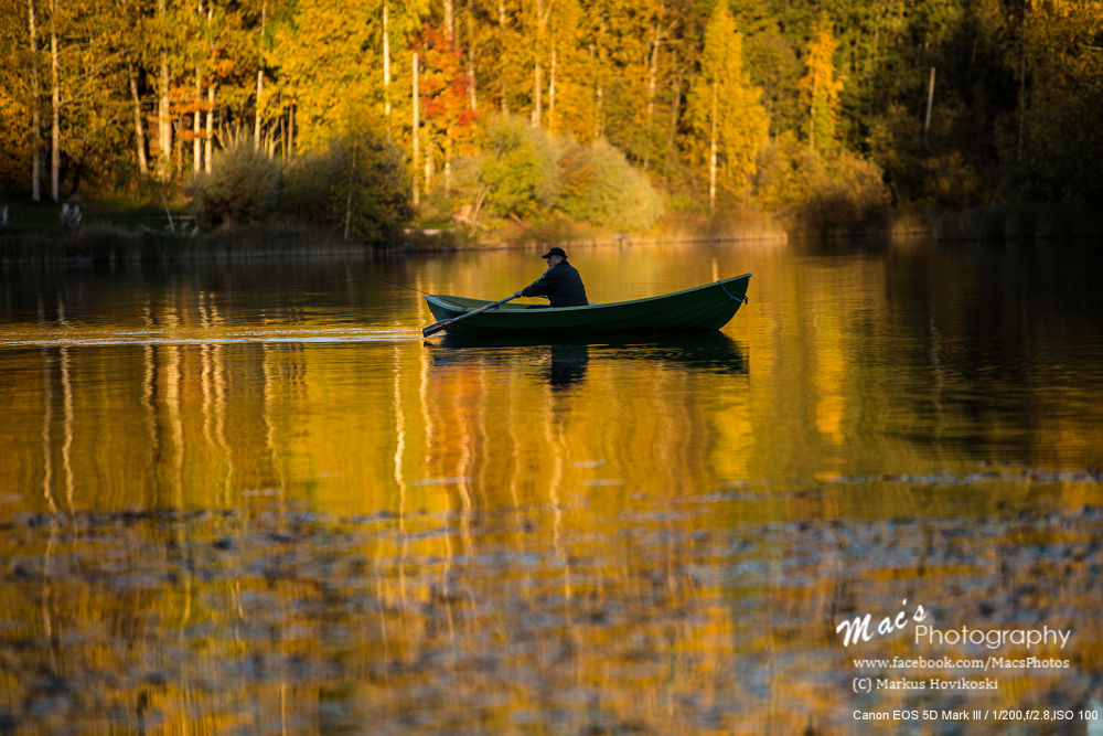 Photo in Landscape #boat #people #lake #water #autumn #fall #trees #sunset #finland #nature #canon #eos 5d #mark iii #canon eos 5d mark iii #macsphotography #ypa2013