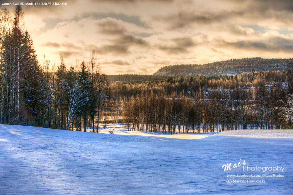 Golf course during winter by Mac's Photography