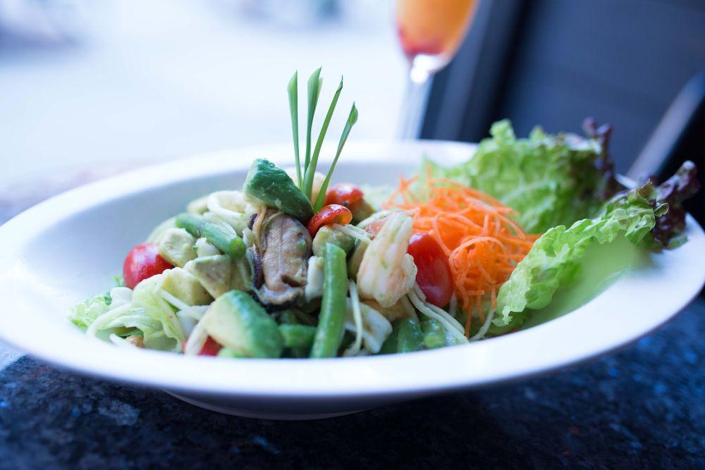 Seafood Avocado Papaya Salad by Erik Teng