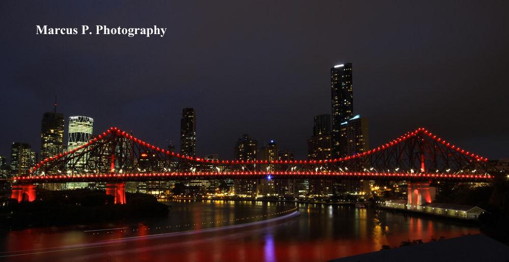 Story Bridge, Brisbane City, Australia. (20mm, F18, 30sec) by MarcusPPhotography