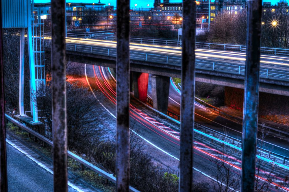 Light Trails by Valerie Downie