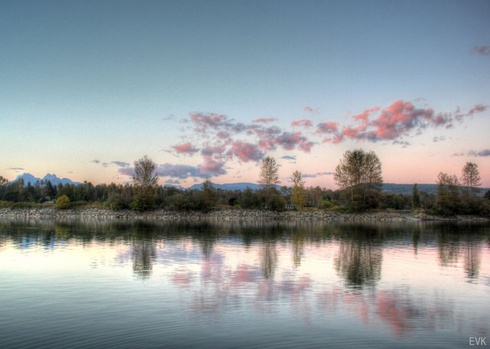 Along the River Blue HDR ~ EVK by ErnieKasper