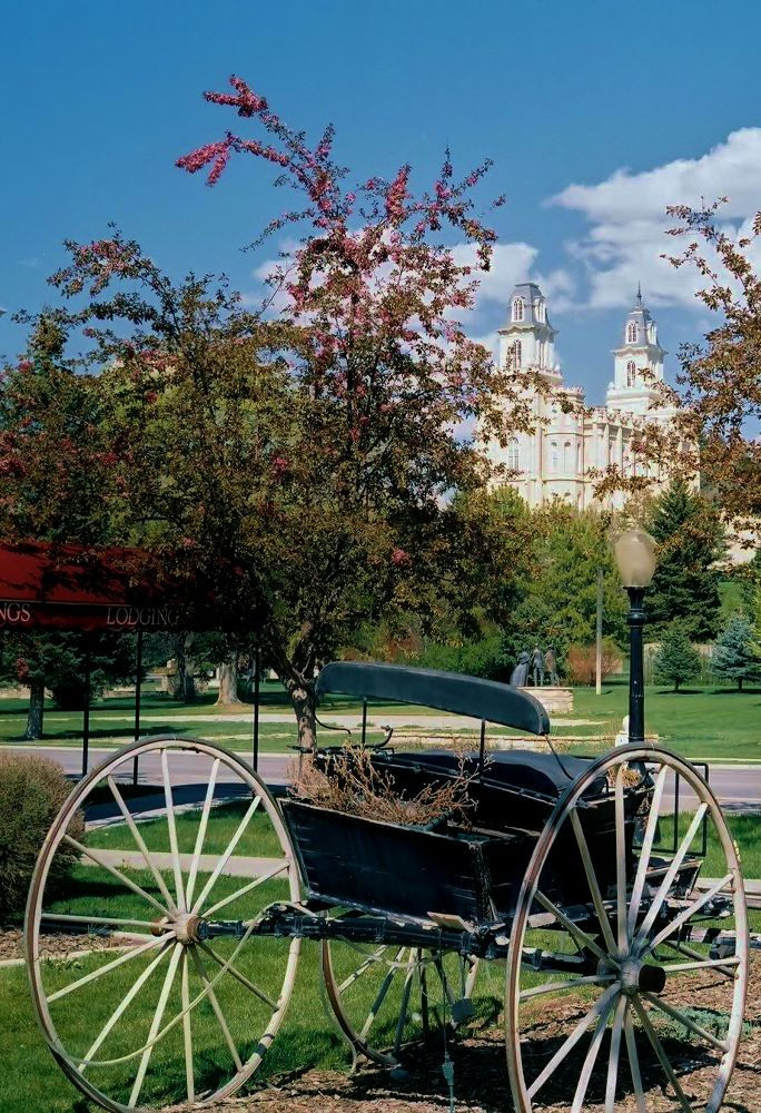 Manti Temple and buggy. UT. USA. by mbbenfield