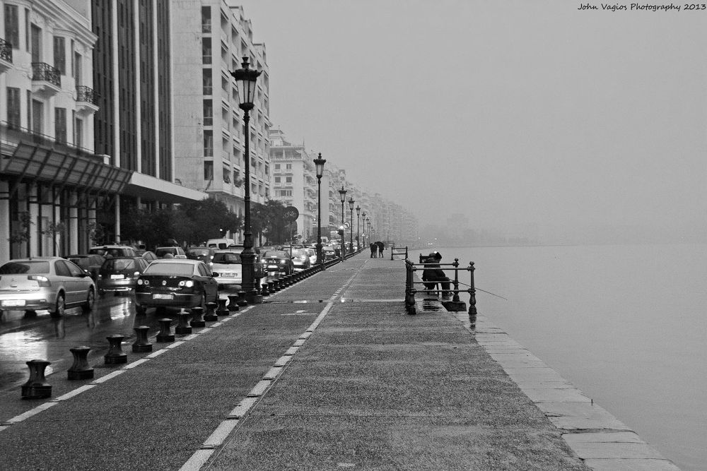 FOG IN THESSALONIKI by JohnVagios