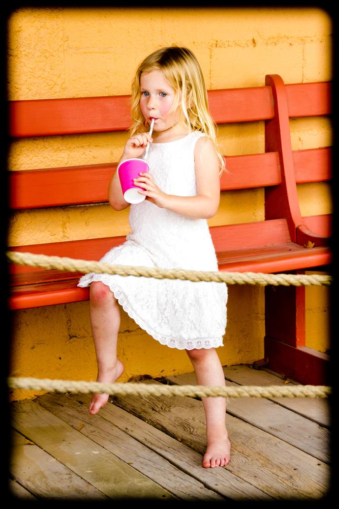 Photo in Family #lemonaid #girl #colors #porch