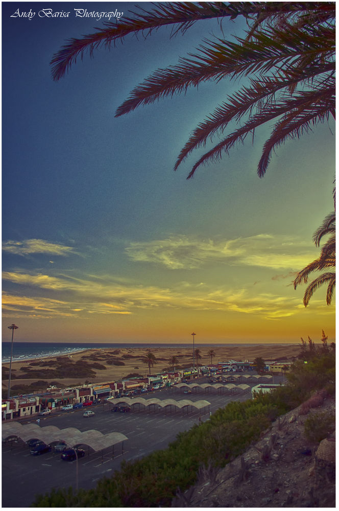 sunset in Gran Canaria by baarisa