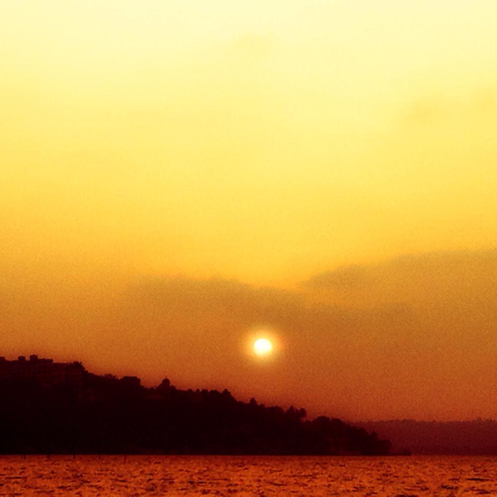 Orange sunset  by KarenLobo