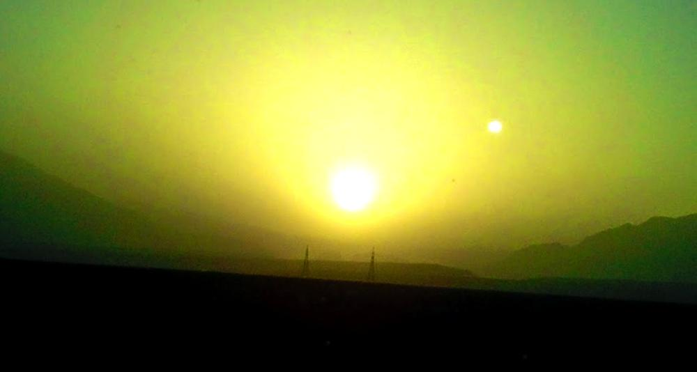 Sun rise on the way of Mastung  by Saeed Shah