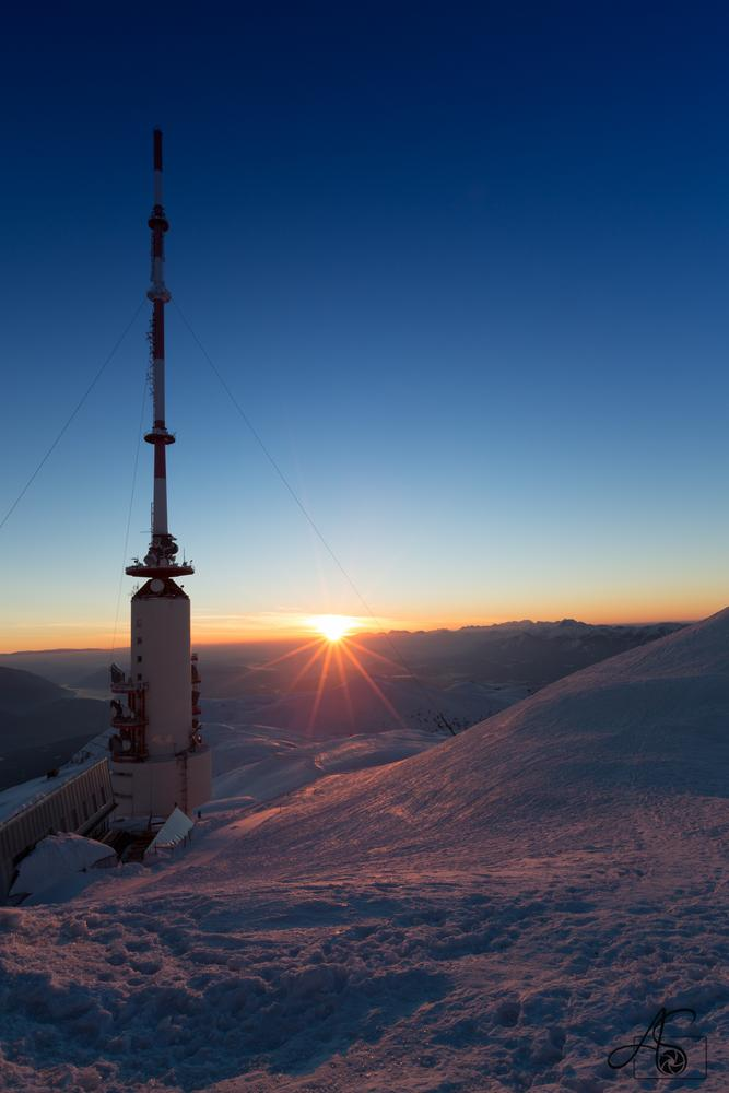 sunrise at Mt. Dobratsch by Andreas Schuller