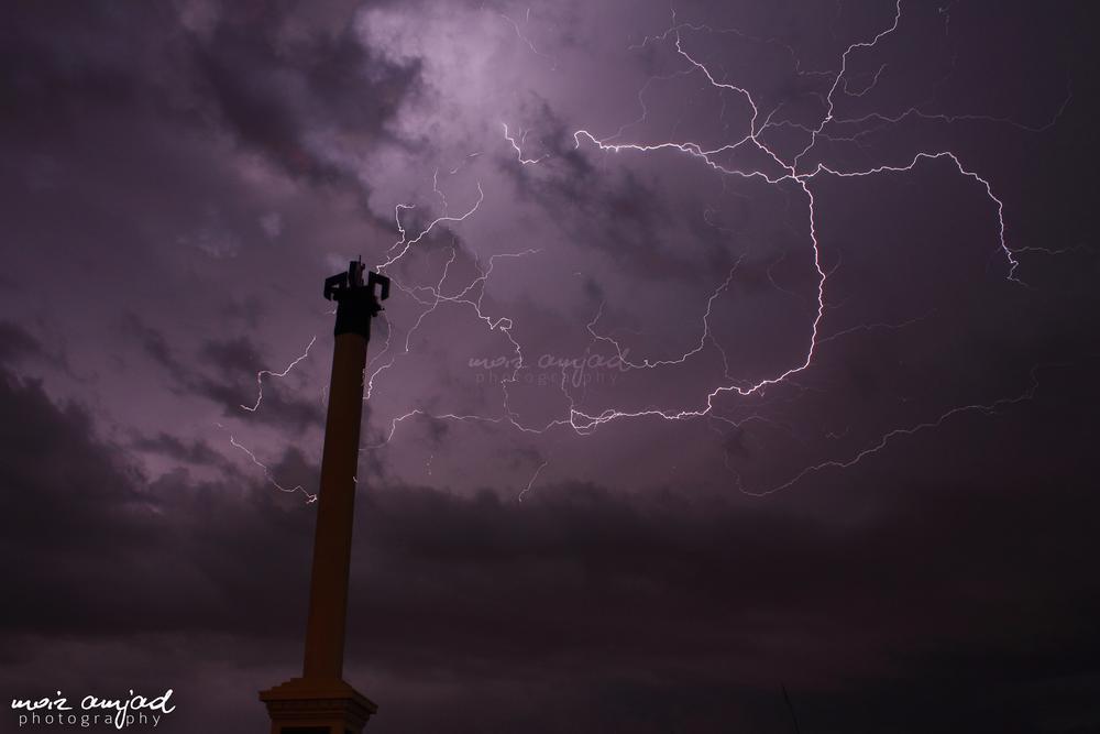 Photo in Nature #lightning #nature #insane #weather #rain #clouds #cloudy #islamabad #pakistan #gloria
