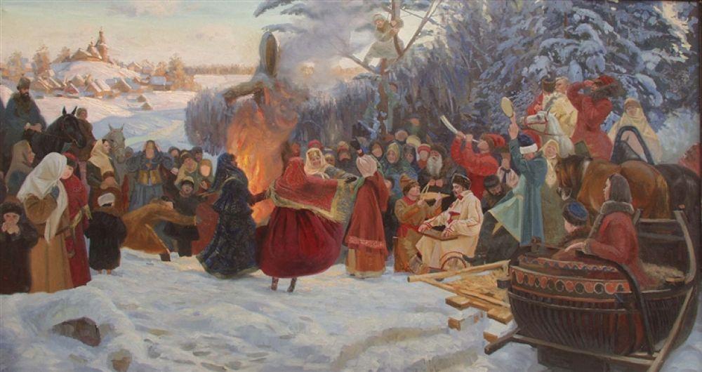 Photo in Random #to #cm. #shrovetide.farewell #winter.xvii #century.2001.canvasoil.205x120
