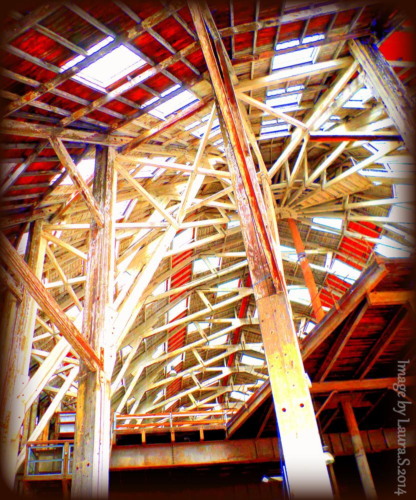 Old Boathouse Roof - Colour. by LauraGSmith