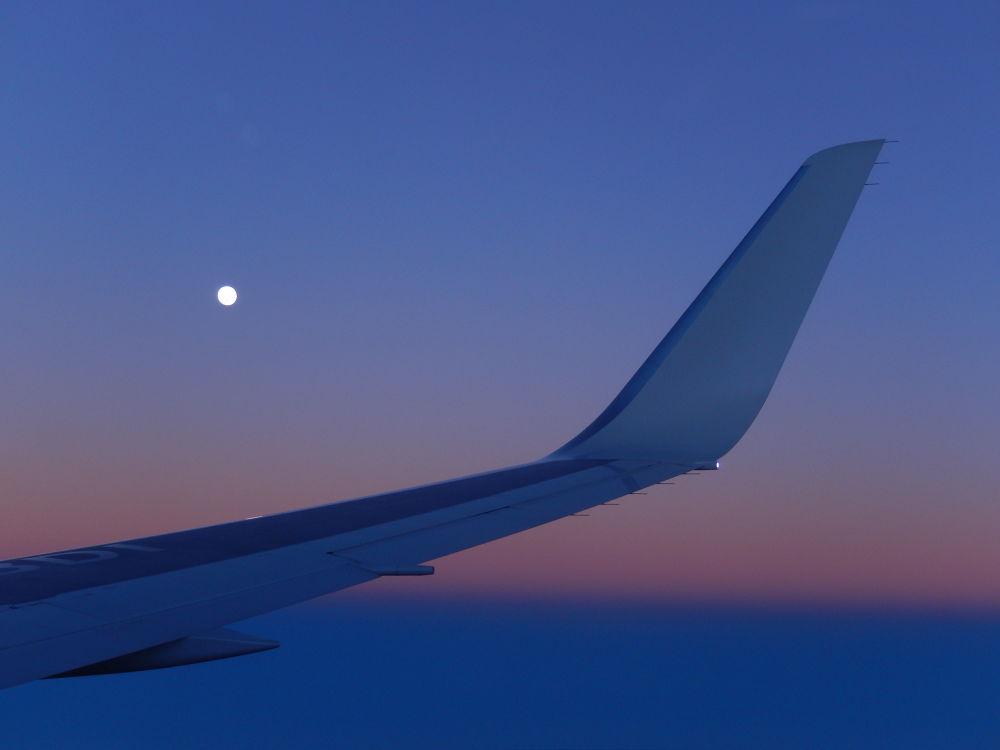 Moon from Airplane by LuisSakurada