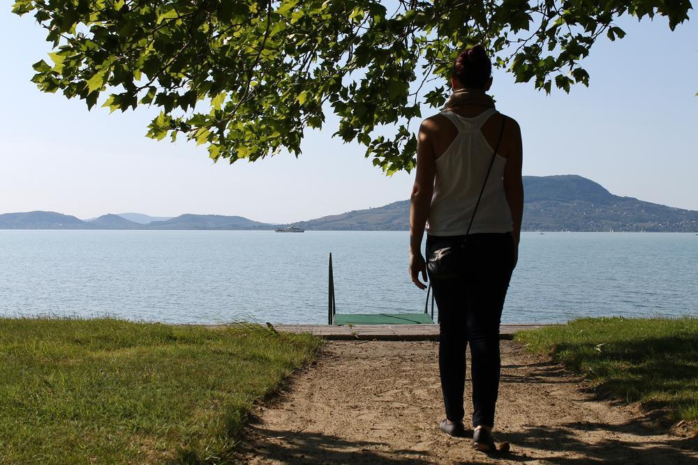 Photo in Landscape #badacsony #lake balaton #people