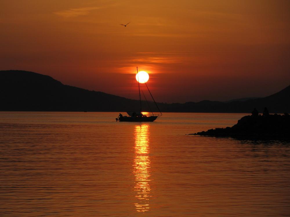 Photo in Landscape #sunset #lake balaton #badacsony #balatonboglár