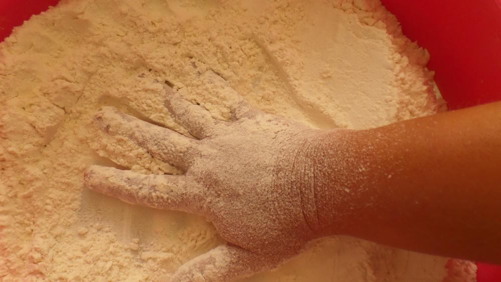 Making bread with one hand, taking a pic with the other by Francine Waterman
