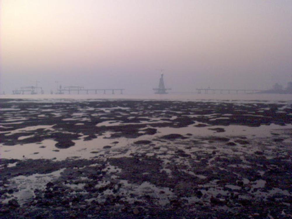 worli sea link under construction by Praful Baweja