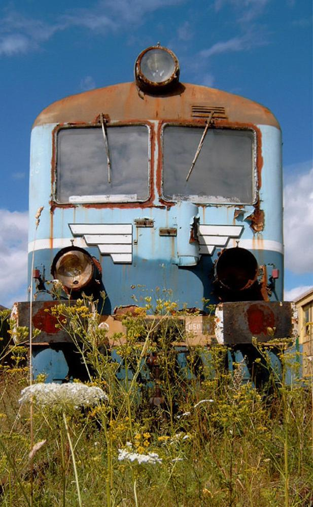 Photo in Vehicle #wreck #motor wagon #railway #sn61 #kościerzyna #wagon motorowy #złom #wrak