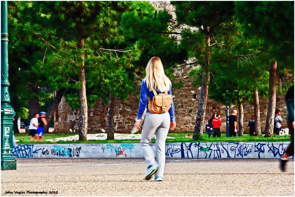 THE GIRL WALKS by JohnVagios
