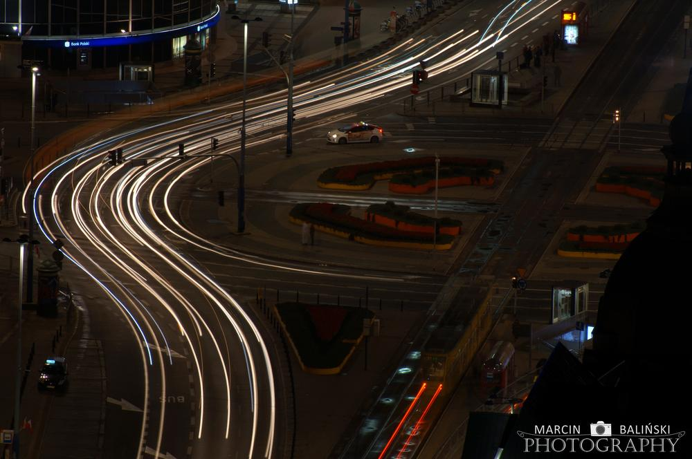 Photo in Random #warsaw by night #night #lights #car #city
