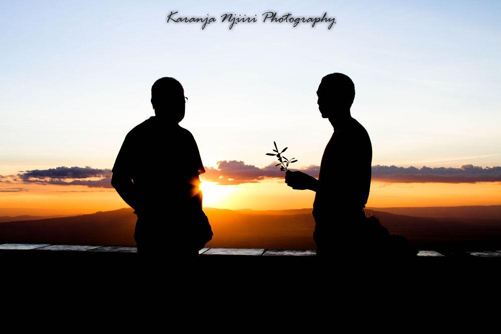 Sunset at the African Rift Valley Escarpment  by njiiriek