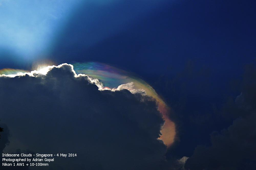 Iridescene Clouds over Singapore by Adrian Gopal