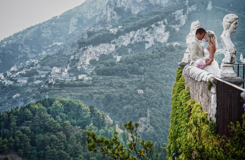 Wedding at Villa Cimbrone in Ravello - Infinity Terrace by alfonsolongobardi_italyweddingphotos