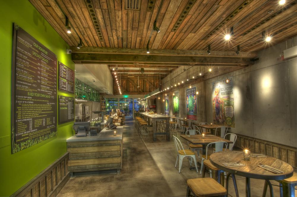 Photo in Interior #real estate #restaurant #restaurant photography #hdr #greenleaf #greenleaf gourmet chopshop #rustic interiors #rustic #recycled #reclaimed #creative #unique #gourmet #healthy #dining #eat #eat healthy #costa mesa #california #chalk #chalk board #family style