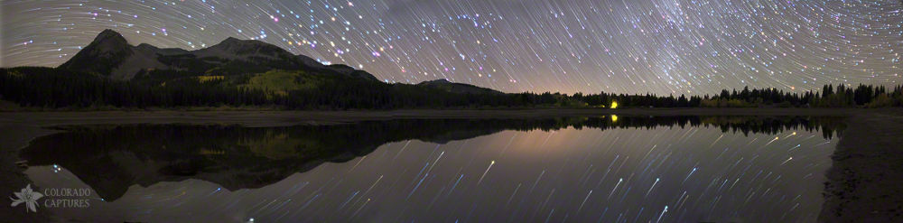 Lost Lake Star Trail Panorama by mikeberenson