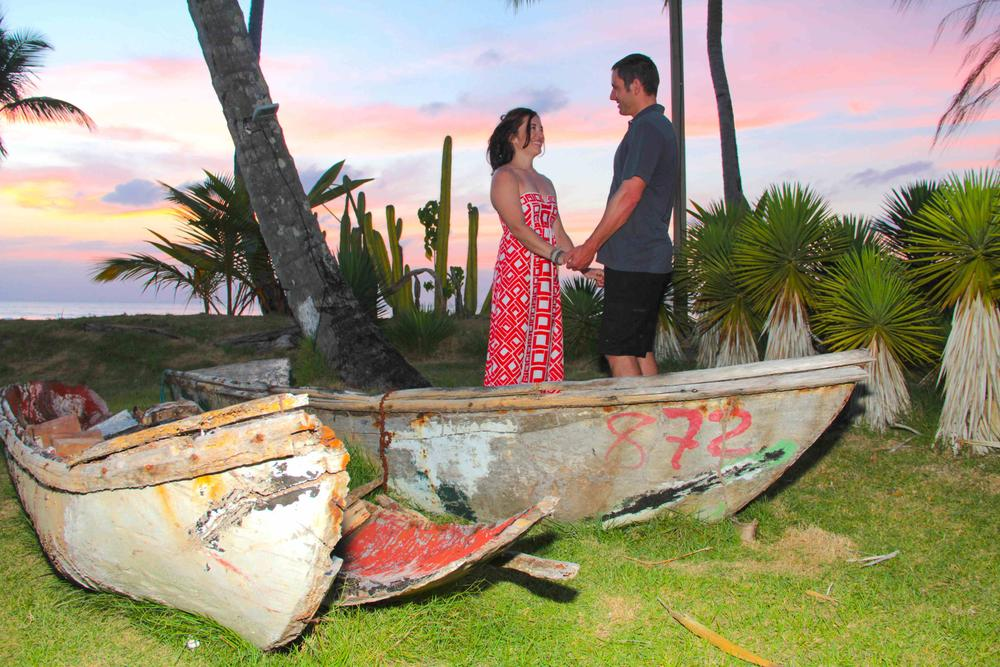 Megan & Scott at the sunset, Las Terrenas by Felix Corona