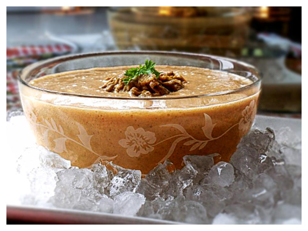 iced pumpkin soup by Flo X VeganEdge