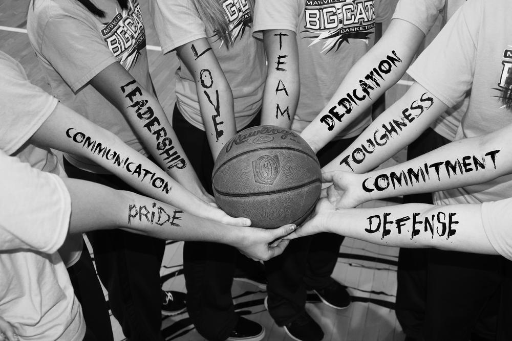 Photo in Sports #basketball #high school #girls basketball #teamwork