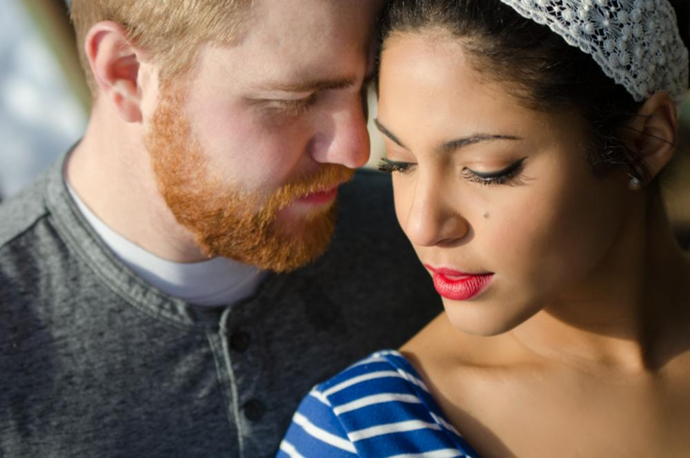 Photo in People #love #engagements #color #winter #red lipstick #married #happiness