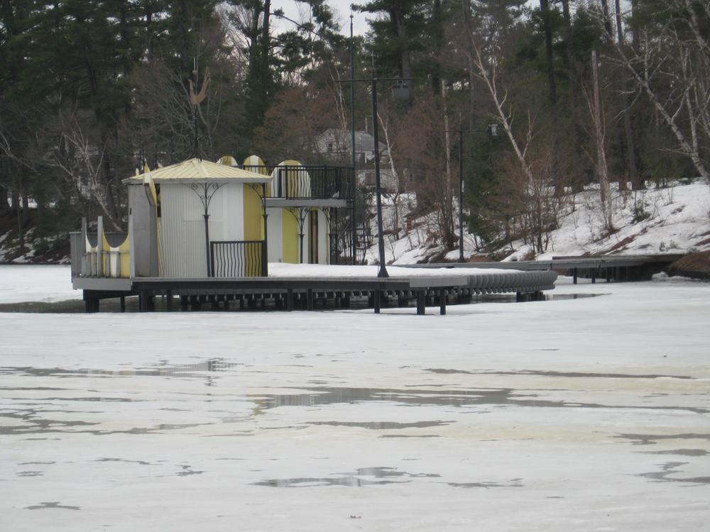 the barge in winter by Robert Mckenna