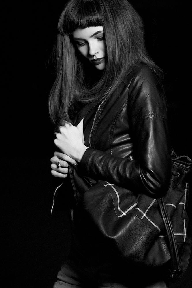 Photo in Fashion #girl #woman #leather #backpack #rucksack #suffolk #hairstyle #mae mclean #lilymae