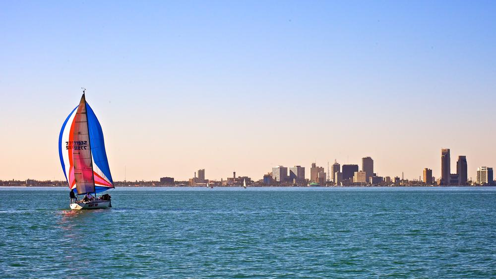 Photo in Cityscape #sailing #corpus christi #texas #skyline #city #bay