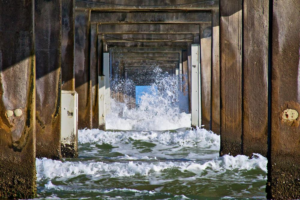 Photo in Nature #waves #beach #dock #perspective