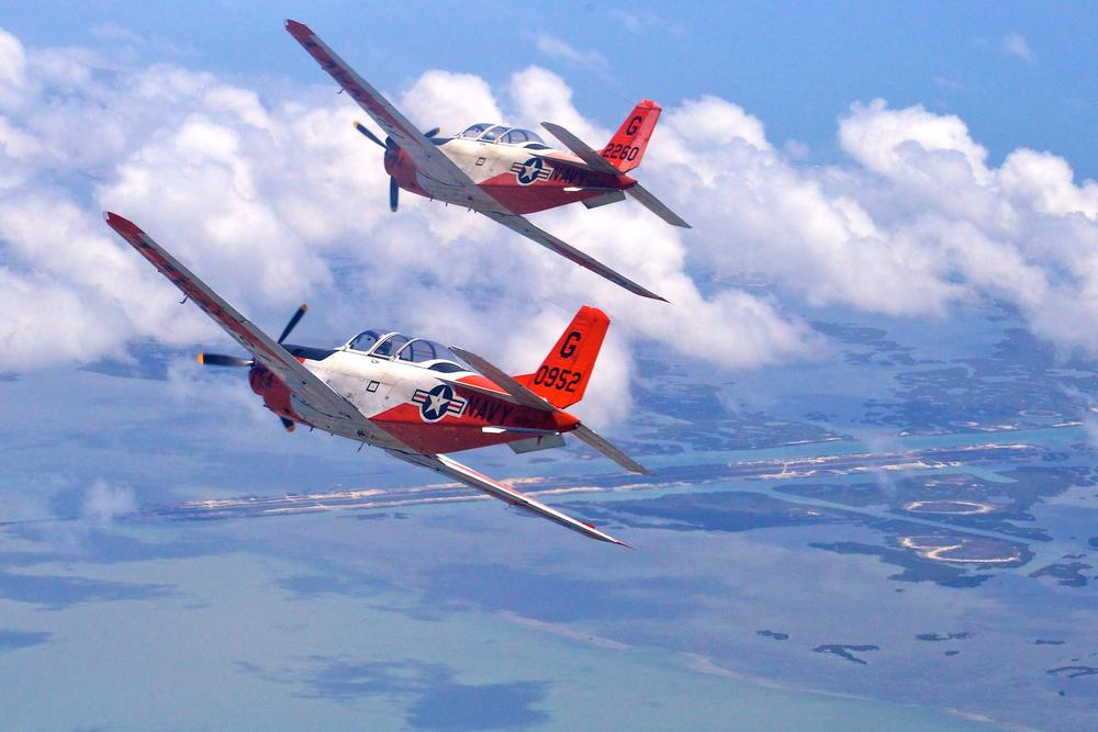 T-34s over Texas by Hugh Mitchell