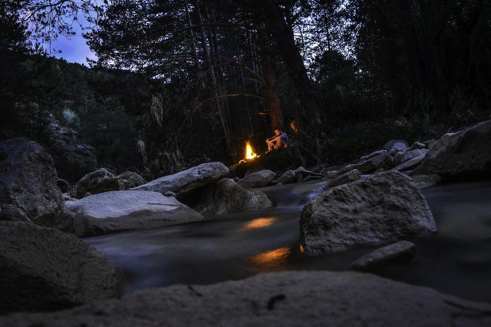 Photo in Landscape #feu #paysage #filet #pause longue #montagne