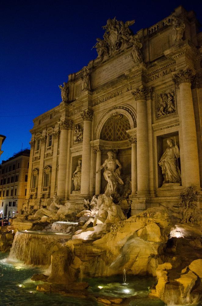 Photo in Architecture #trevi #fountain #roma #italy #evening