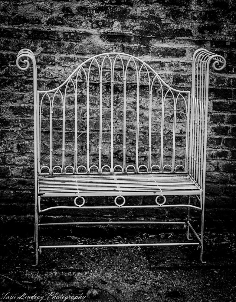Photo in Random #garden #chair #seat #old #victorian #wrought #iron #relax