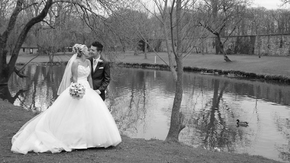 Wedding Photo Black and White 2 by Imogen Farmer