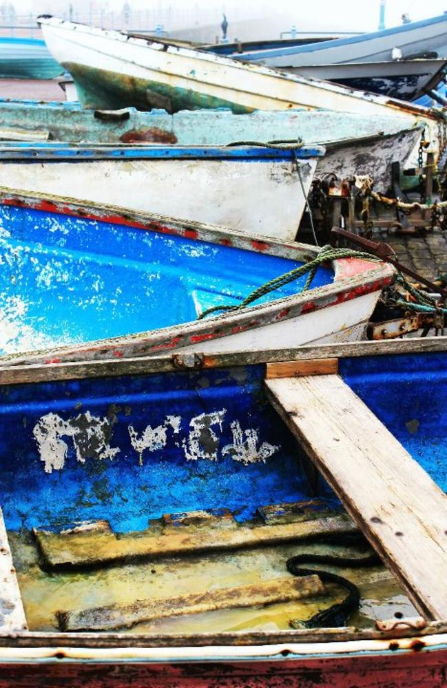 Photo in Sea and Sand #boats #beach #sea #sand #paint #colour