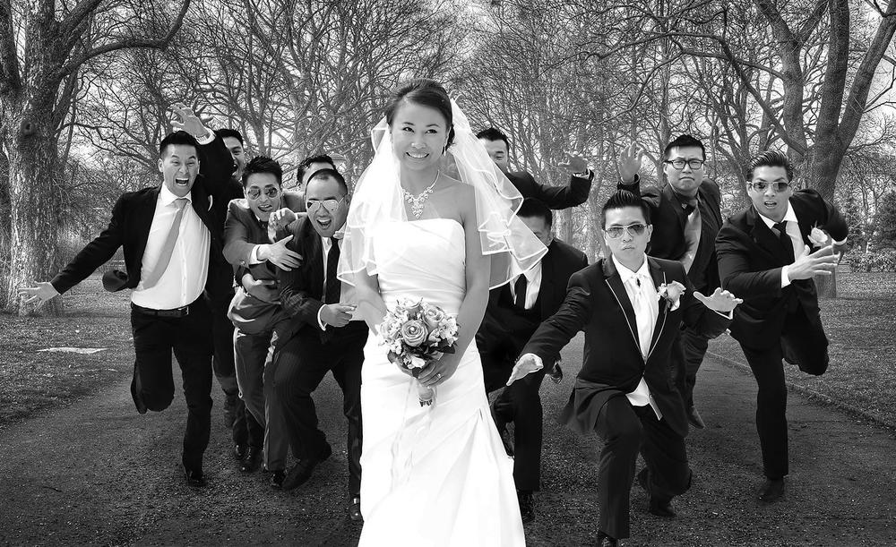 Photo in Wedding #love #peace #asian #hangover #bride #white #black