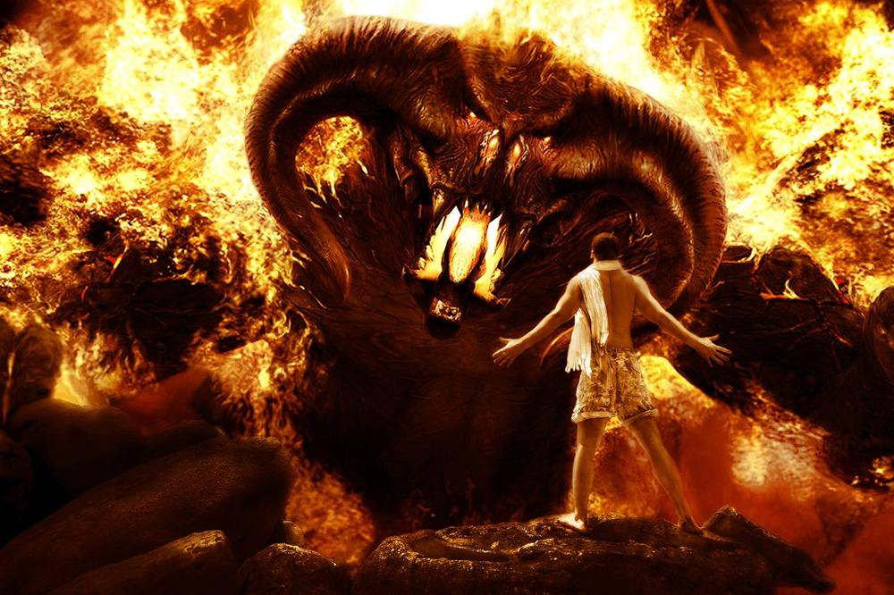 Photo in Abstract #fight #photoshop #balrog
