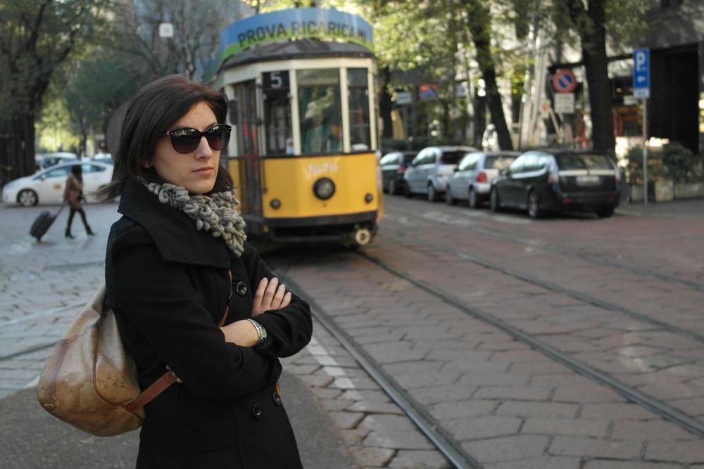 My wife and the tram.. by GL Photo